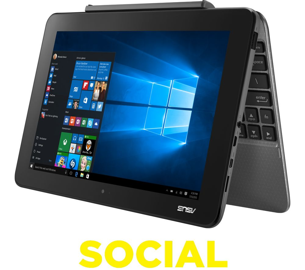 "ASUS Transformer Book T101HA 10.1"" 2 in 1 - Grey + Office 365 Personal"