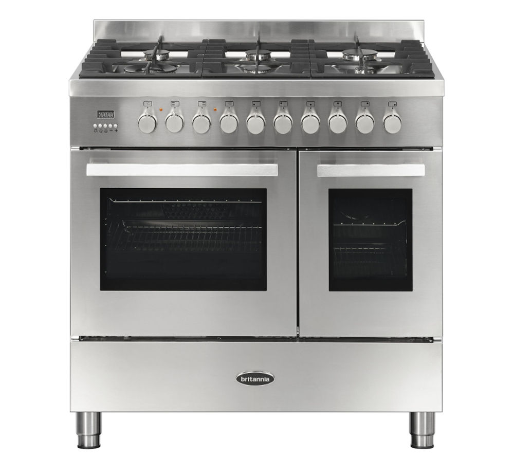 BRITANNIA Sonetto 90DF Dual Fuel Range Cooker - Stainless Steel