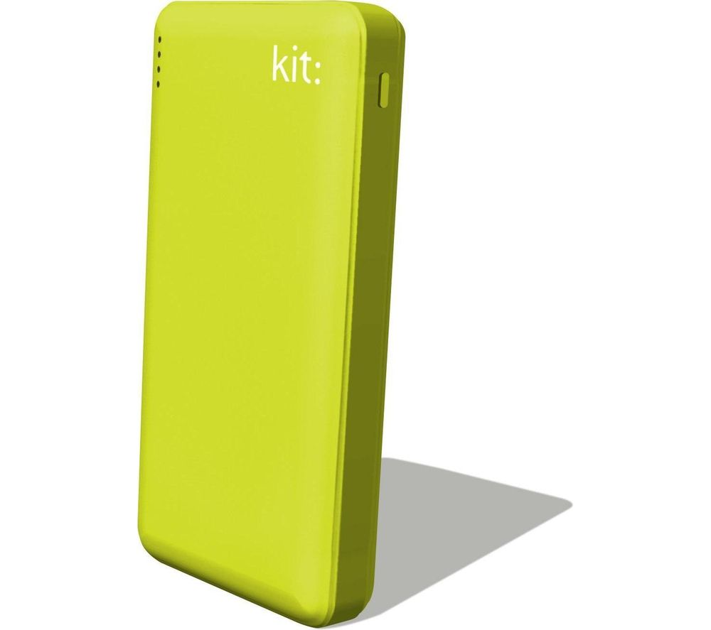 KIT  FRESH Portable Power Bank - Green, Green.