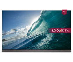 "LG OLED77G7V 77"" Smart 4K HDR OLED TV - Gold & Wine"