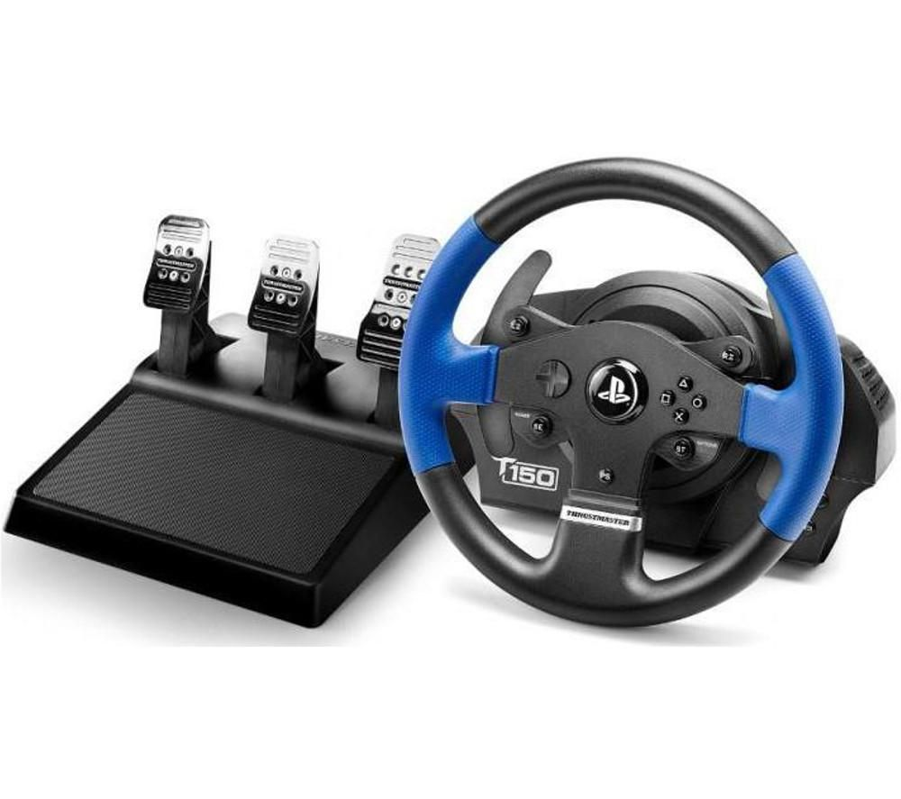 THRUSTMASTER T150 RS Racing Wheel & Pedals - Black & Blue