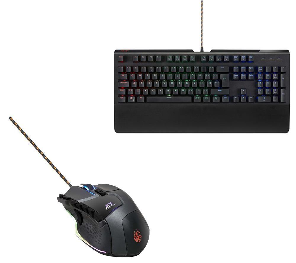 AFX MK0217 Mechanical Gaming Keyboard & Laser Gaming Mouse ...