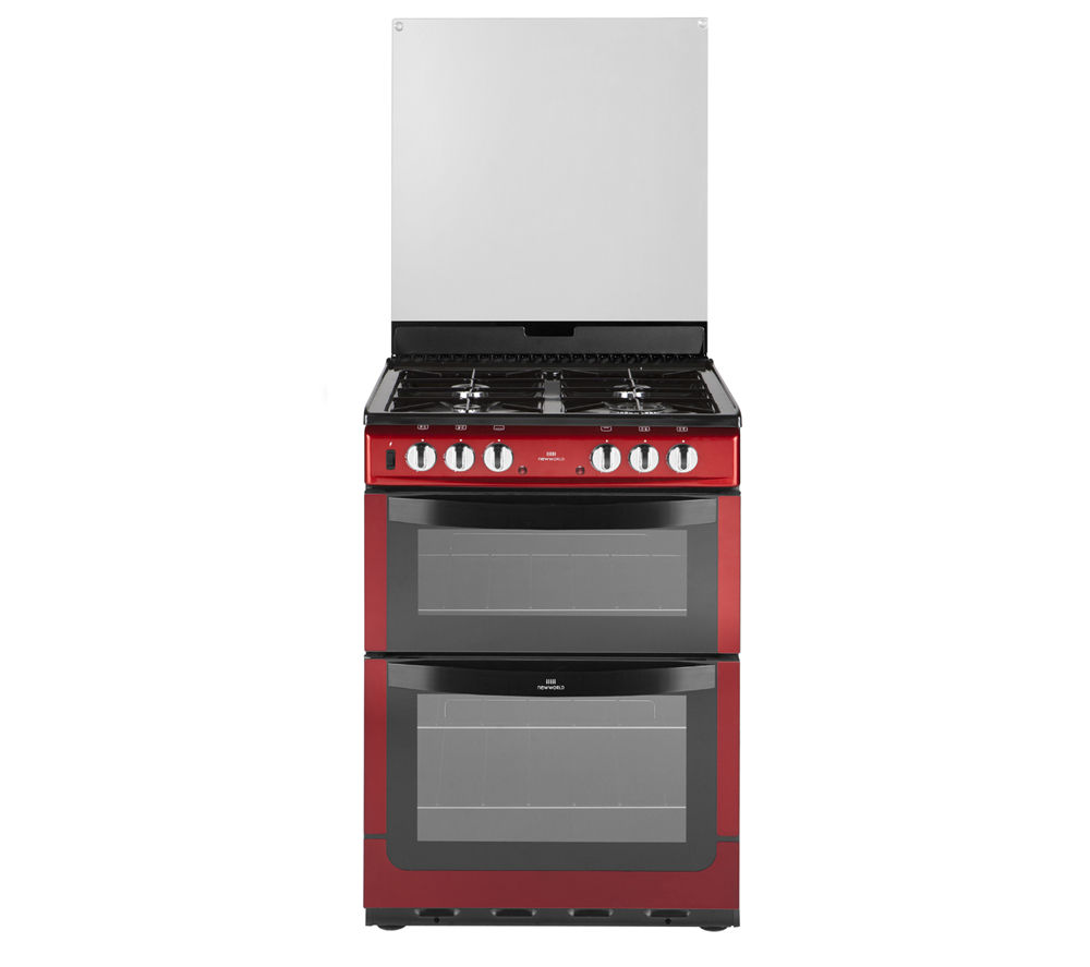 NEW WORLD 601DFDOL Dual Fuel Cooker - Red