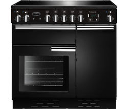 RANGEMASTER Professional+ 90 Electric Ceramic Range Cooker - Black & Chrome