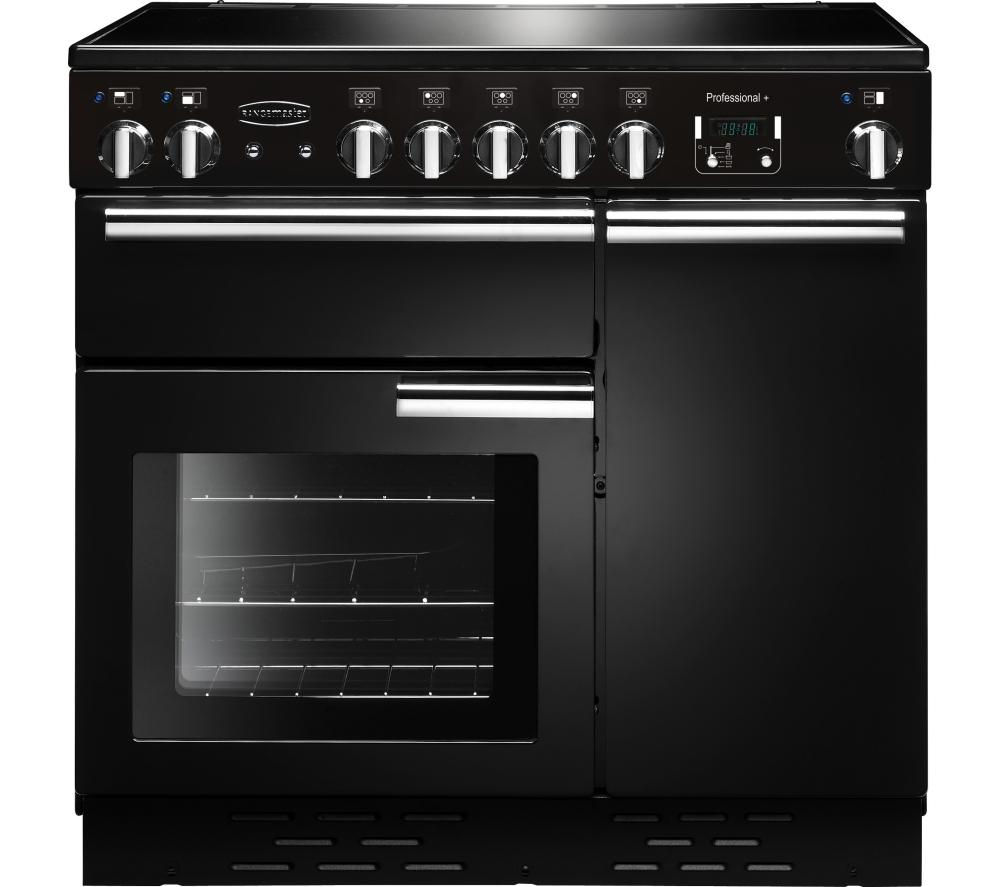 RANGEMASTER Professional+ 90 Electric Ceramic Range Cooker - Black & Chrome