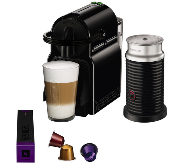 buy nespresso by magimix inissia 11360 coffee machine aeroccino black free delivery currys. Black Bedroom Furniture Sets. Home Design Ideas