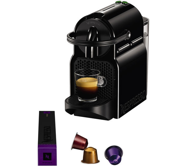 Buy NESPRESSO by Magimix Inissia 11360 Coffee Machine & Aeroccino - Black Free Delivery Currys