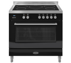 BRITANNIA Q Line 90 Single Electric Induction Range Cooker - Black