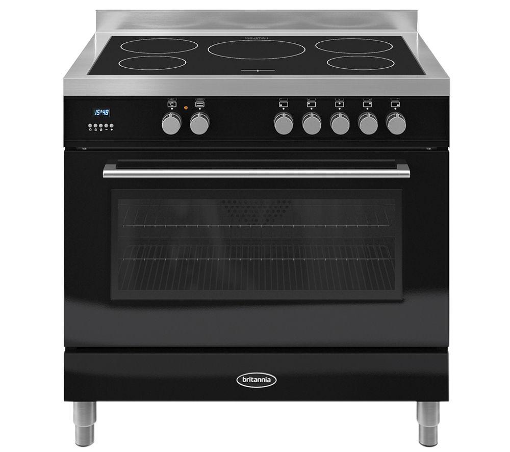 BRITANNIA Q Line 90 Single Electric Induction Range Cooker - Black