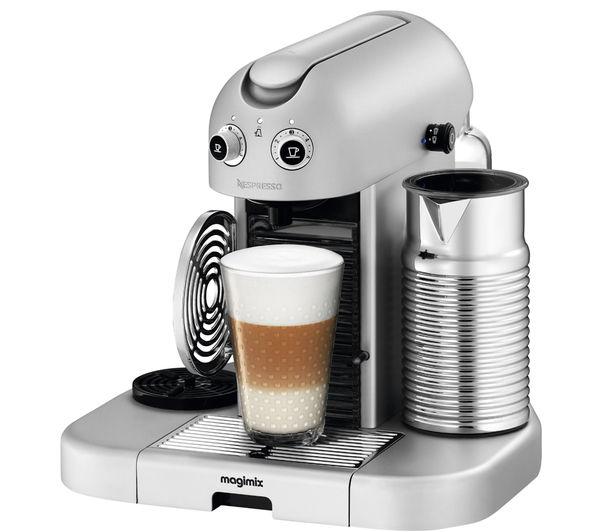 Buy MAGIMIX 11335 Nespresso GranMaestria Coffee Machine & Aeroccino - Silver Free Delivery ...