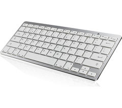 IWANTIT IKBCOMP15 Bluetooth Keyboard - White & Silver