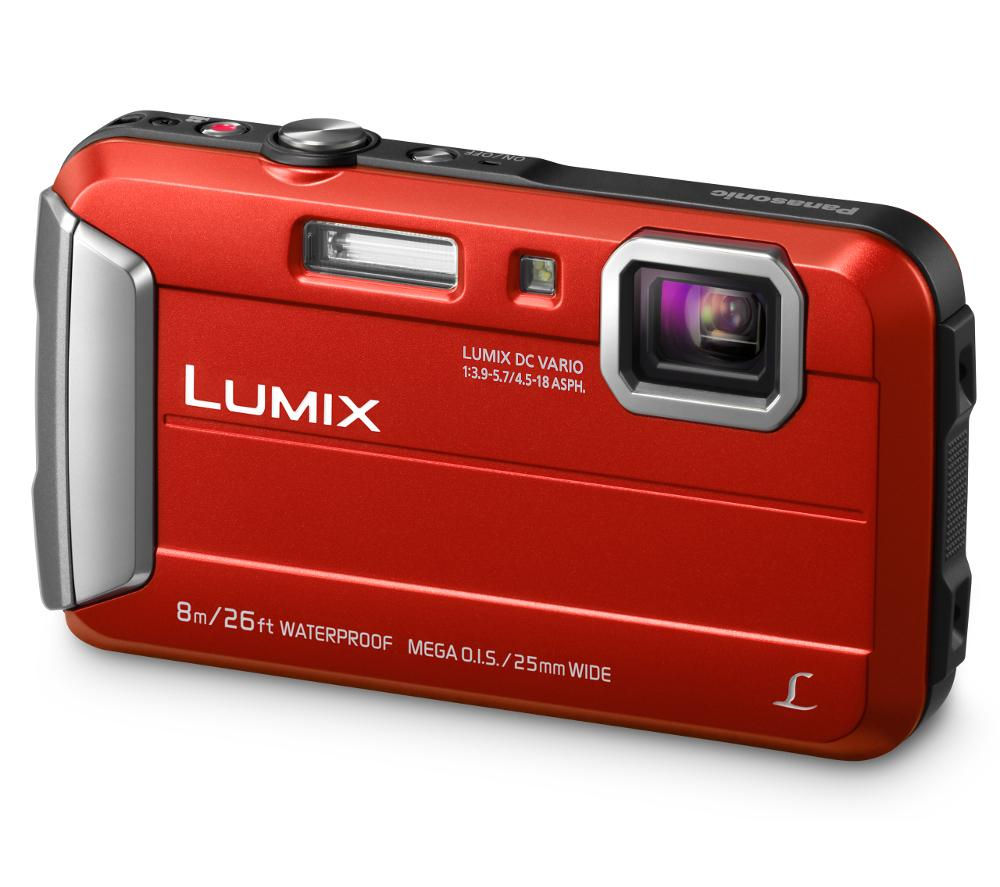 PANASONIC Lumix DMC-FT30EB-R Tough Compact Camera - Red