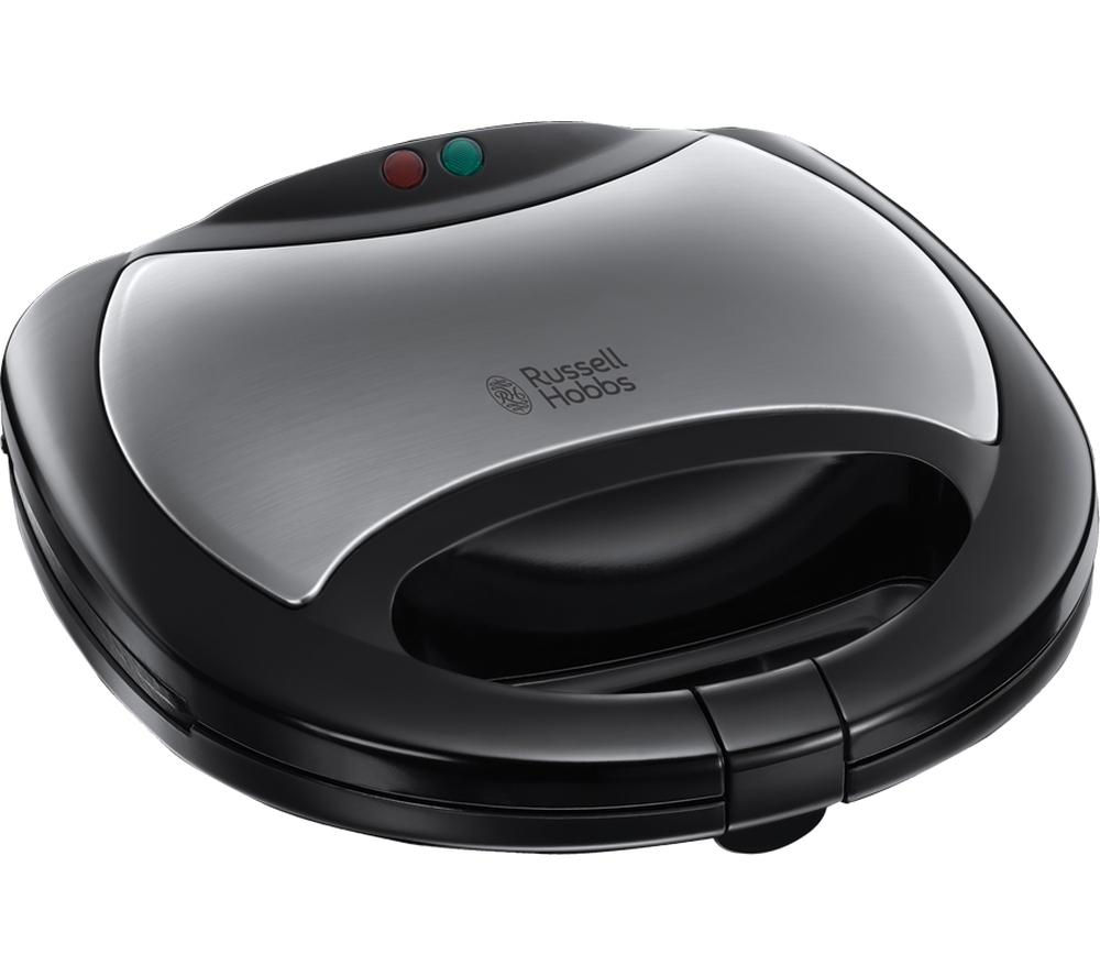 RUSSELL HOBBS 20930 3-in-1 Sandwich Toaster - Black & Silver