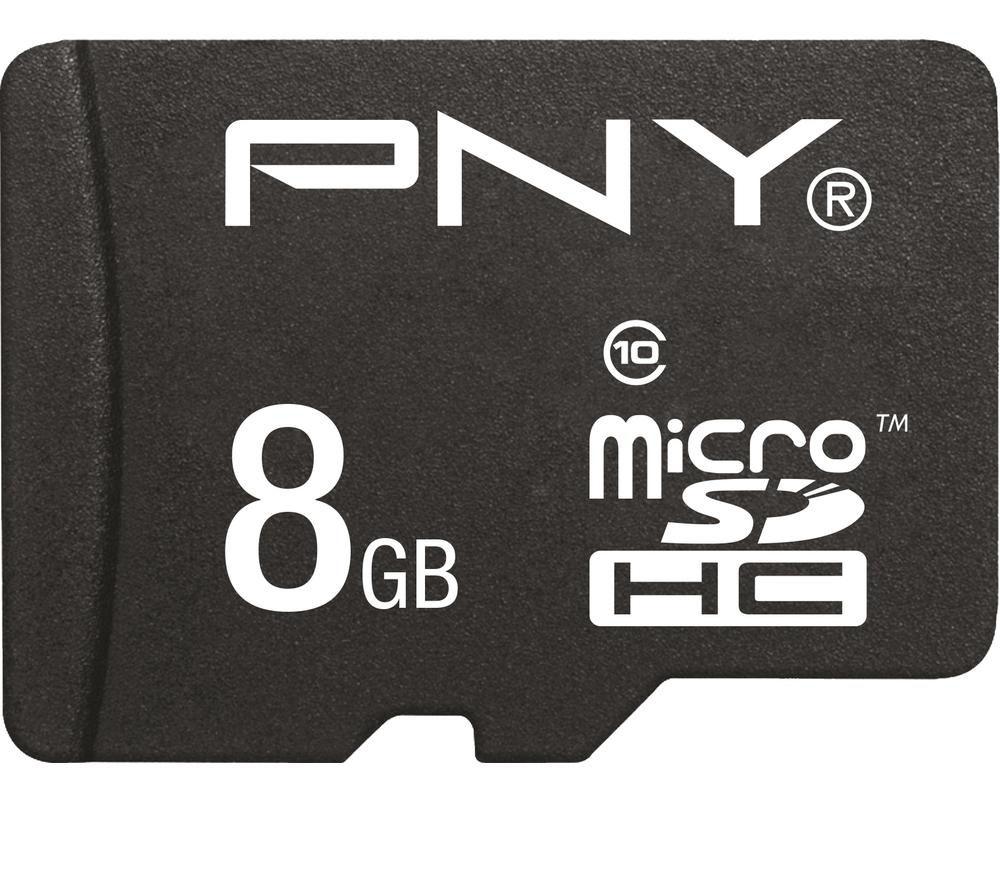 Pny Class 10 microSD Memory Card  8 GB