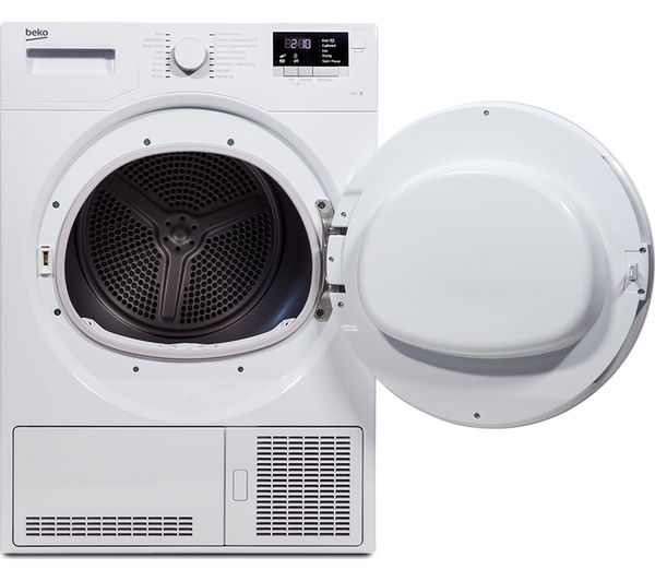 buy beko dcx83100w condenser tumble dryer white free. Black Bedroom Furniture Sets. Home Design Ideas