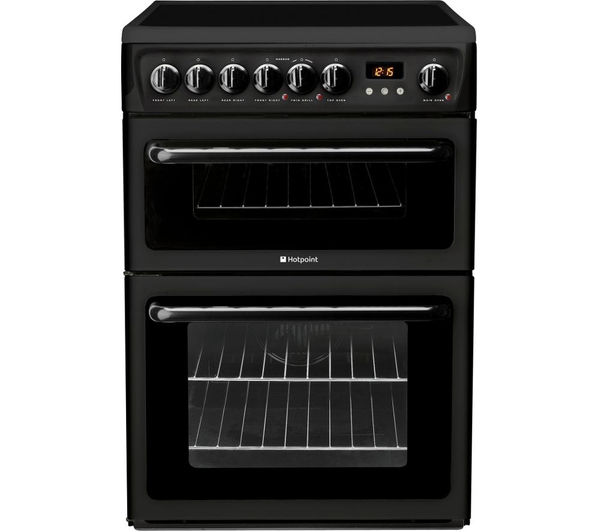 HOTPOINT  HAE60KS Electric Ceramic Cooker  Black Black
