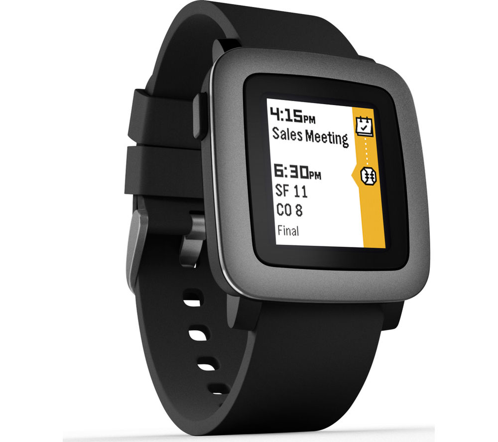 Buy pebble time smartwatch black free delivery currys for Pebble watches