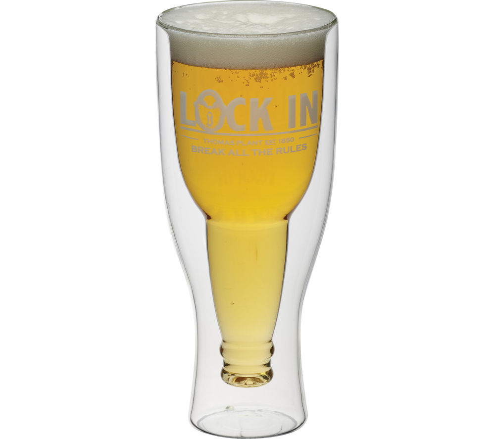 BAR CRAFT Lock In Bottoms Up Inverted 420 ml Beer Glass