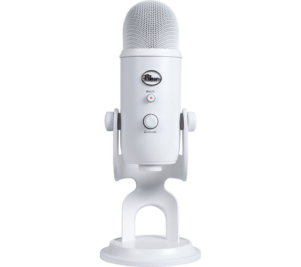 BLUE Yeti Whiteout USB Microphone - White