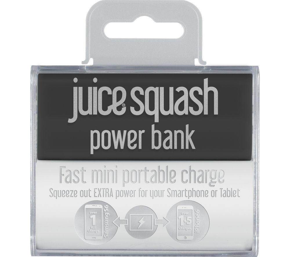 JUICE Squash Mini Portable Power Bank - Black