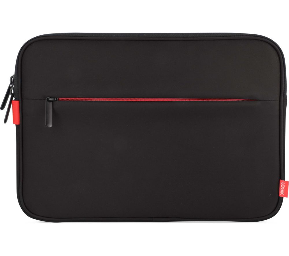 LOGIK LPSSLRD16 Surface Pro 3 & 4 Sleeve - Black & Red