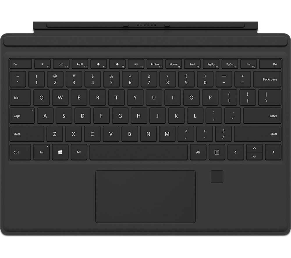 MICROSOFT Surface Pro Type Cover with Finger Print ID - Black