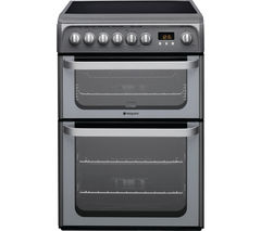HOTPOINT Ultima HUE61GS 60 cm Electric Ceramic Cooker - Graphite