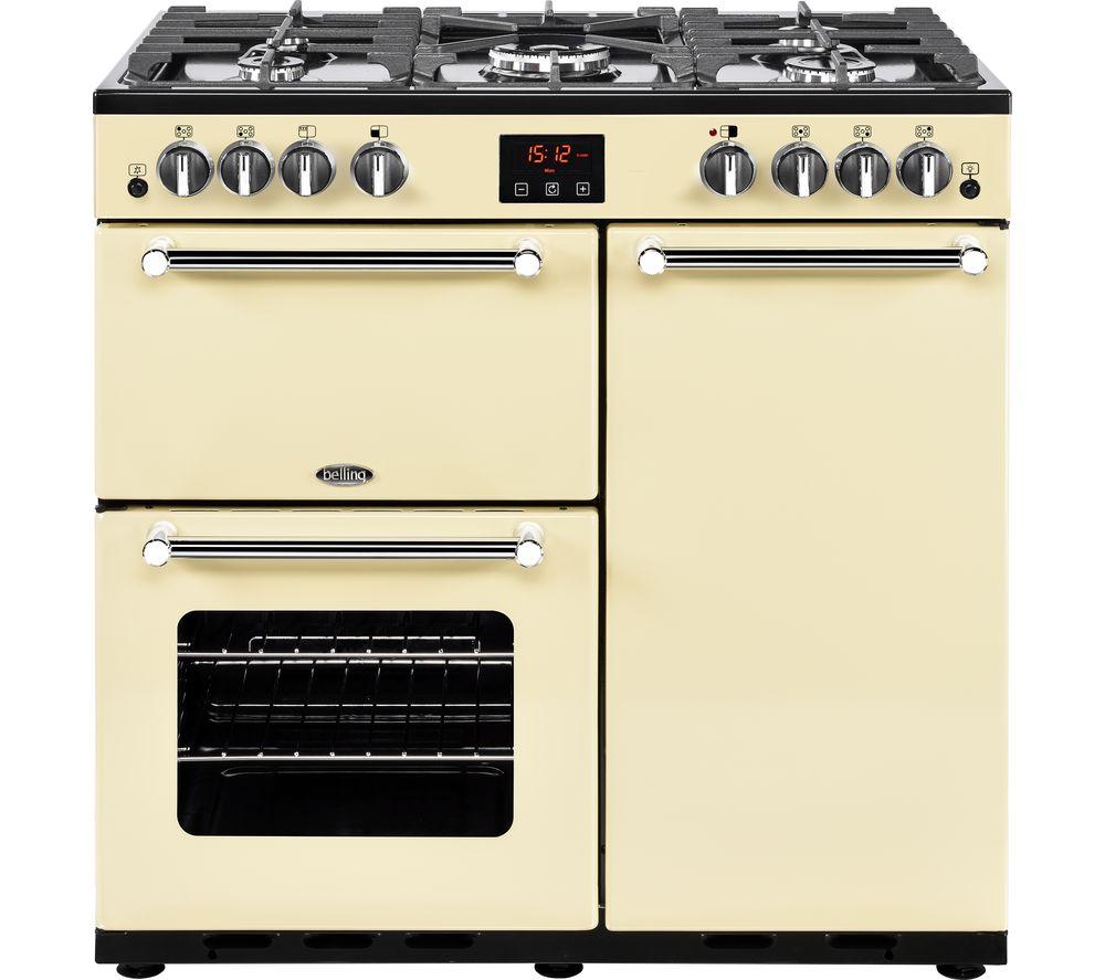 BELLING Kensington 90G Gas Range Cooker - Cream