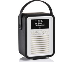 VQ Retro Mini -MINI-BK Portable Bluetooth DAB+/FM Radio - Black