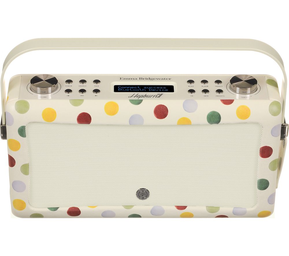 by Emma Bridgewater VQ Hepburn Mk II Portable DAB+/FM Bluetooth Clock Radio
