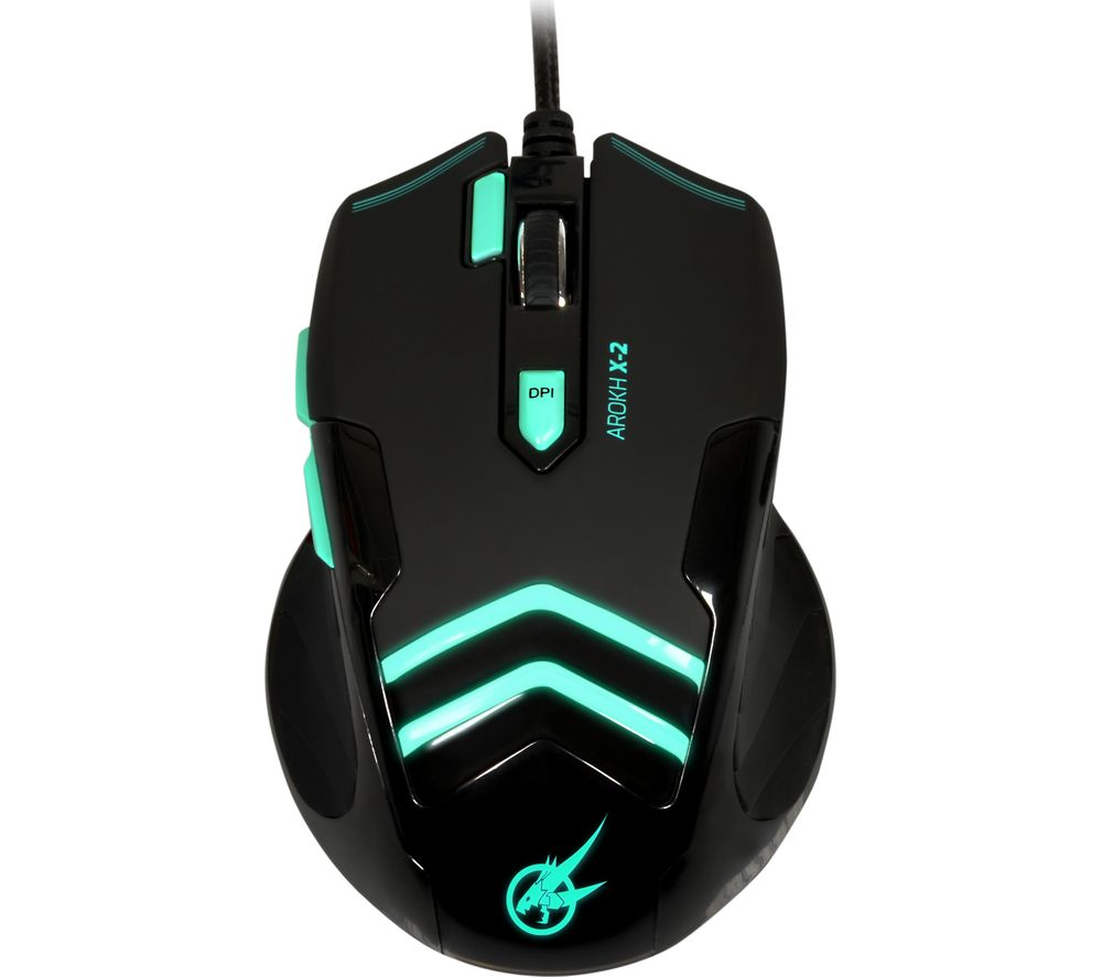 PORT DESIGNS Arokh X-2 Optical Gaming Mouse - Black & Green