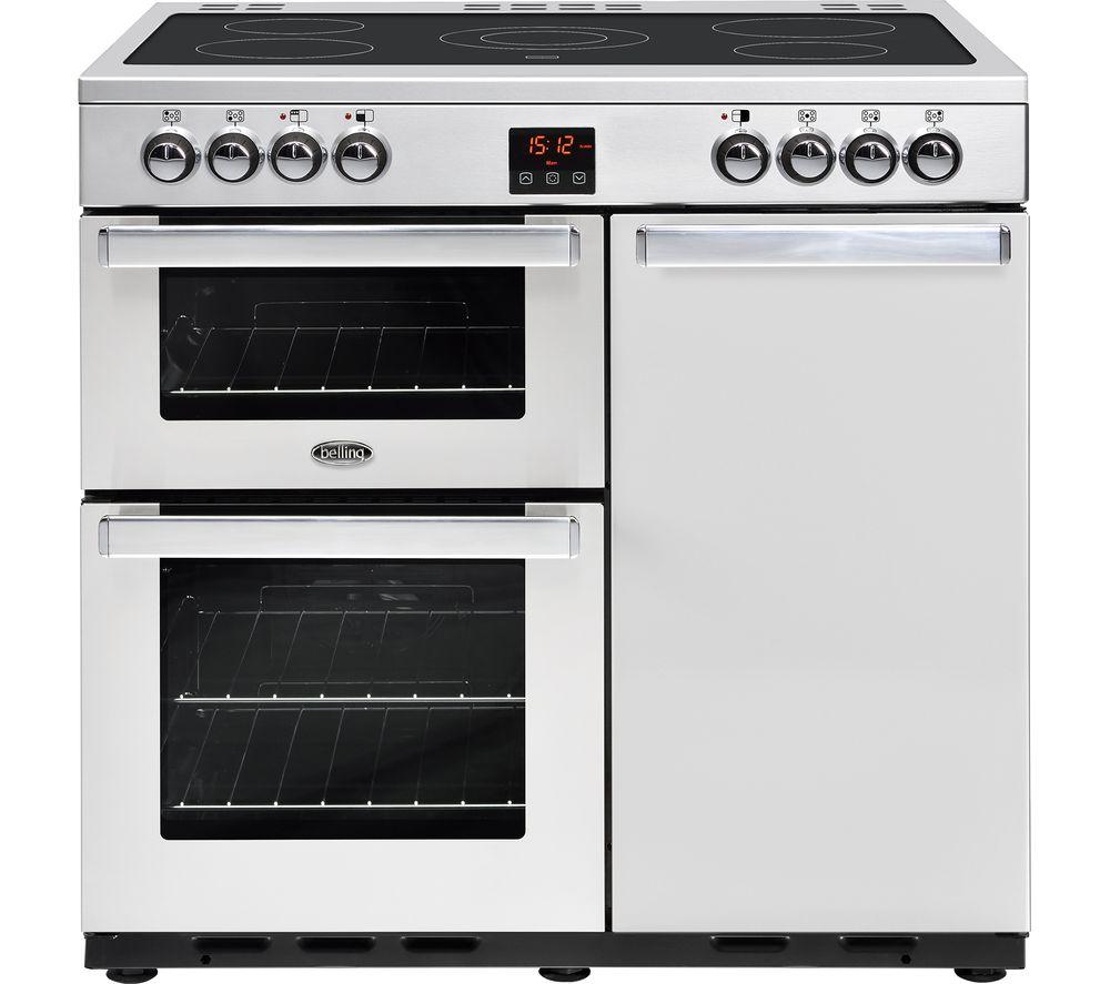 BELLING Gourmet 90E PROF STA 90 cm Dual Fuel Range Cooker - Stainless Steel