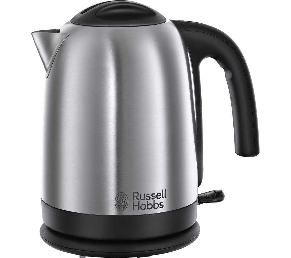 Russell Hobbs Cambridge Brushed Steel 20070 Jug Kettle - Polished Stainless Steel, Stainless Steel.