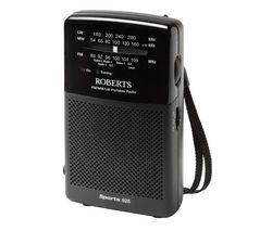 ROBERTS Sports925 3-Band Portable Analogue Radio - Black