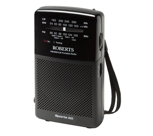 Click to view more of ROBERTS  Sports925 3-Band Portable Analogue Radio - Black, Black