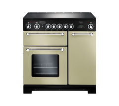 RANGEMASTER Kitchener 90 Electric Ceramic Range Cooker - Cream & Chrome