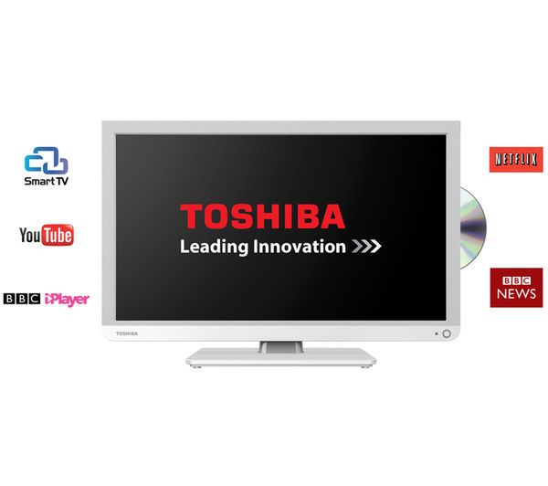 toshiba 24d3434db smart 24 led tv with built in dvd. Black Bedroom Furniture Sets. Home Design Ideas