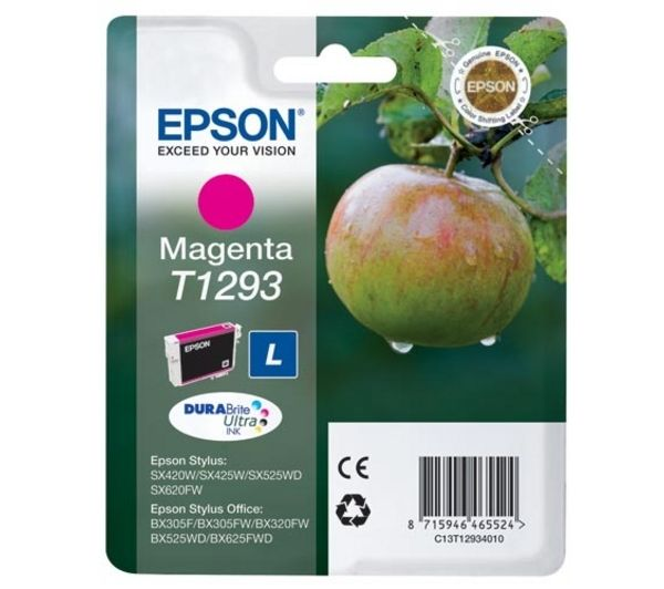 Image of Epson Apple T1293 Magenta Ink Cartridge, Magenta