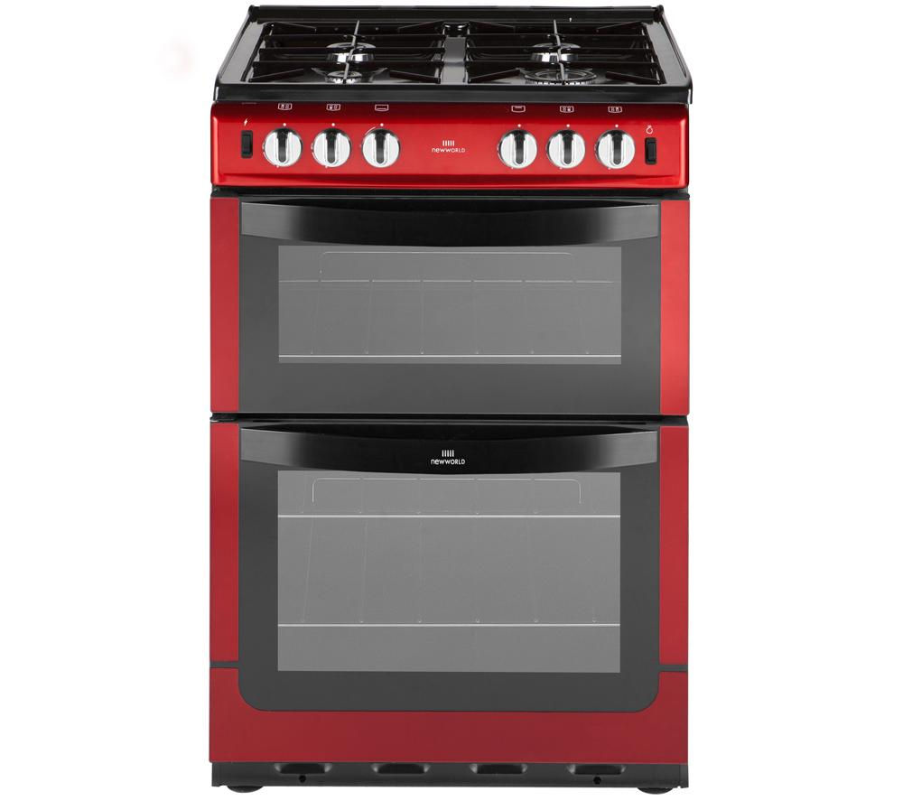 NEW WORLD NW 551GTC Gas Cooker - Metallic Red