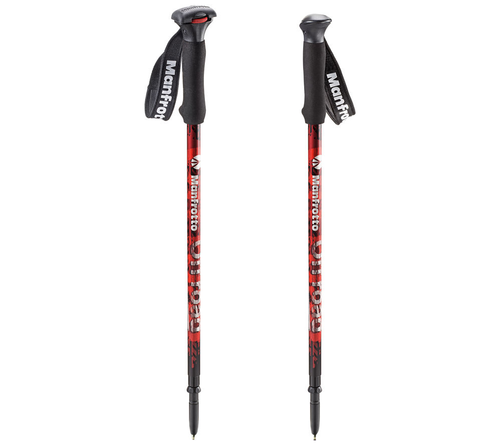 MANFROTTO Aluminium Off Road Walking Sticks - Red