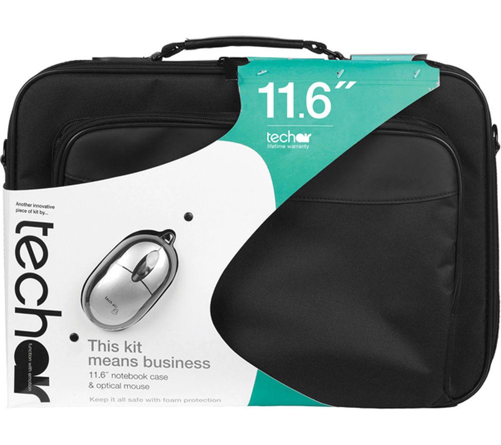 """Image of Techair 11.6"""" Laptop Bag & Mouse Bundle - Black, Black"""