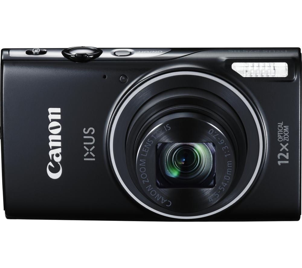 canon ixus 275 hs compact digital camera black. Black Bedroom Furniture Sets. Home Design Ideas