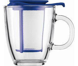 BODUM Yo Yo Mug & Tea Strainer Set - Blue