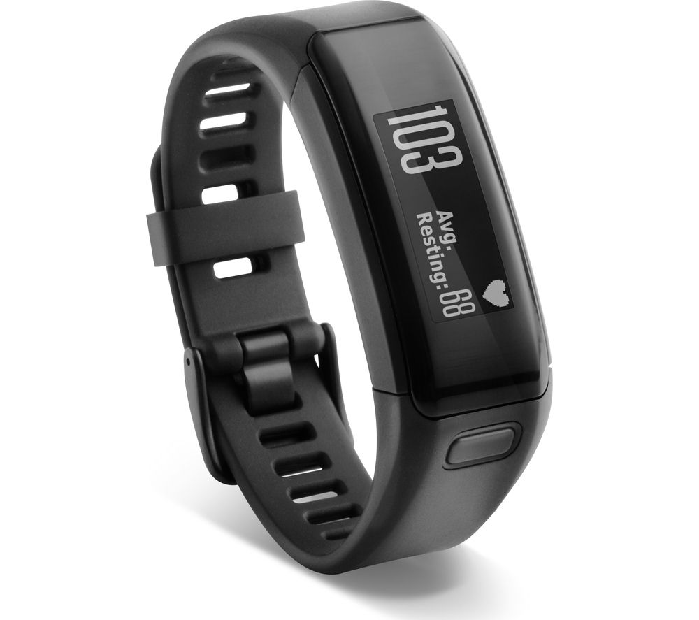 GARMIN Vivosmart HR - Black, Medium