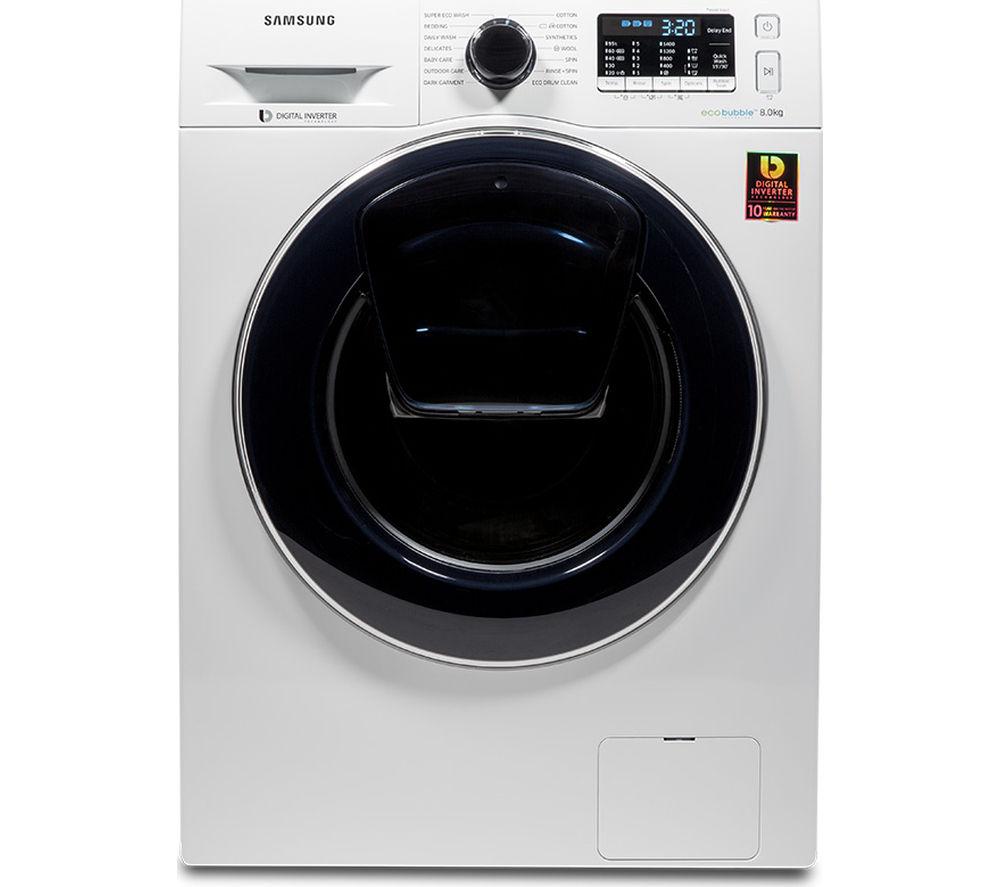 SAMSUNG  AddWash WW80K5410UW Washing Machine - White, White