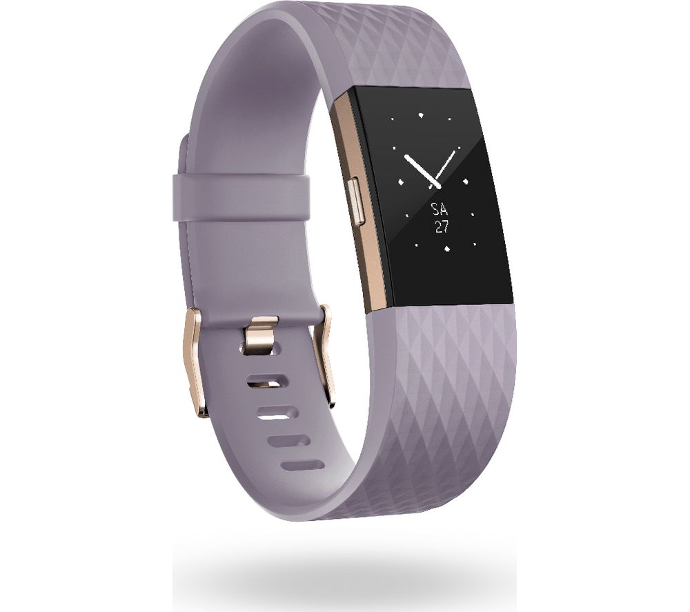 FITBIT Charge 2 - Lavender & Rose Gold, Large