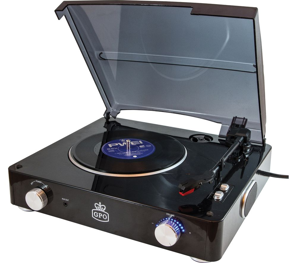 GPO Stylo Turntable - Black