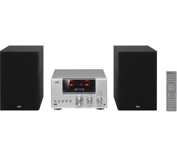 jvc ux d427s wireless traditional hi fi system silver. Black Bedroom Furniture Sets. Home Design Ideas
