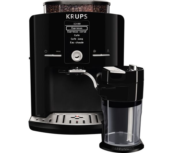 Coffee Maker At Currys : Buy KRUPS Espresseria EA8298 Bean to Cup Coffee Machine - Black Free Delivery Currys