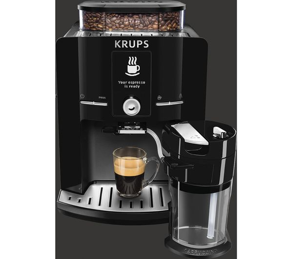 Buy KRUPS Espresseria EA8298 Bean to Cup Coffee Machine - Black Free Delivery Currys